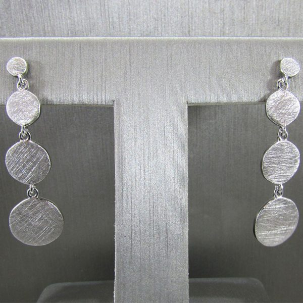 Rhodium Plated Earrings