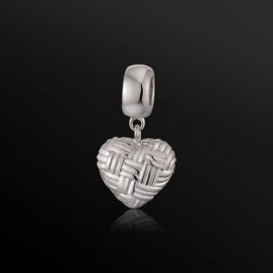 Tangled Heart Silver Charm