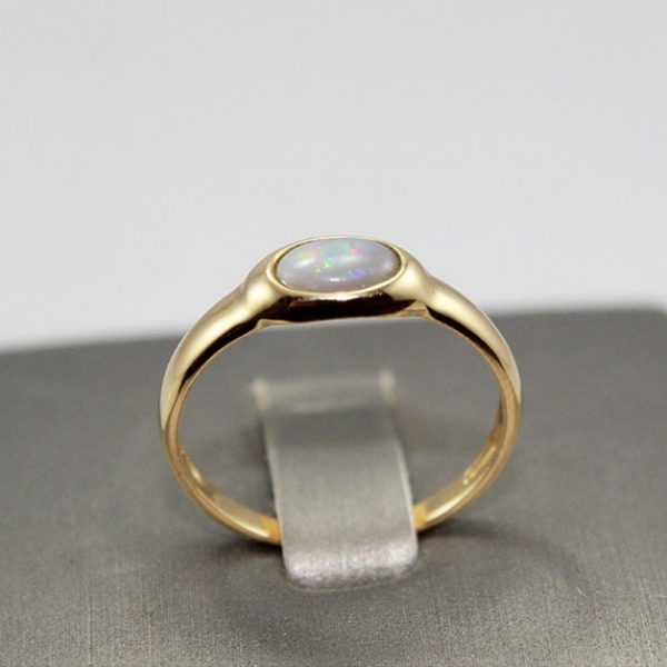 14K Gold Crystal Opal Ring
