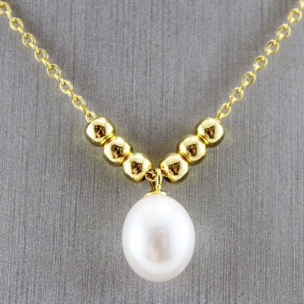 18K Gold Plated Natural Pearl Pendant