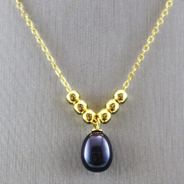Gold Plated Natural Pearl Pendant