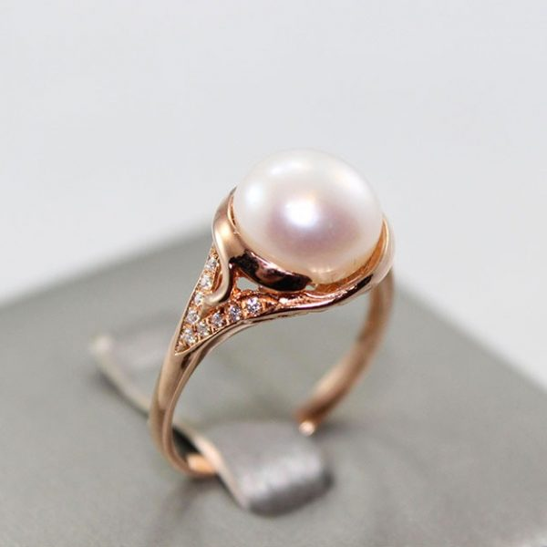 Freshwater Pearl Rose Gold Plated Ring