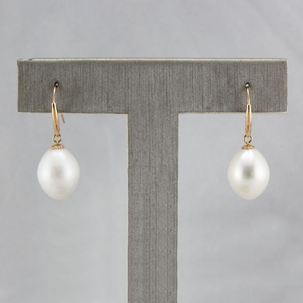 18K Rose Gold Freshwater Pearl Earrings