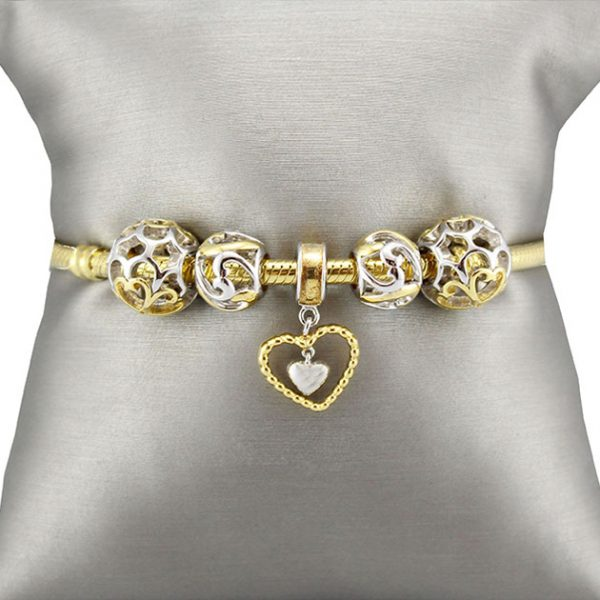 Bracelet & Charms Gold Plated