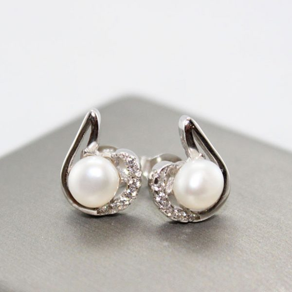Freshwater Pearl Silver Earrings