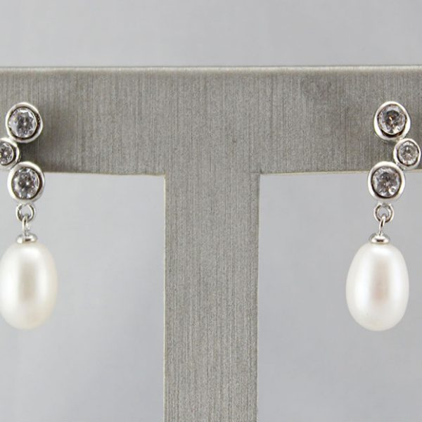 Natural Pearl Silver Earrings