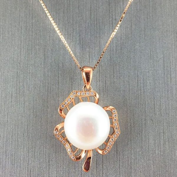 Rose Gold Natural Pearl Pendant
