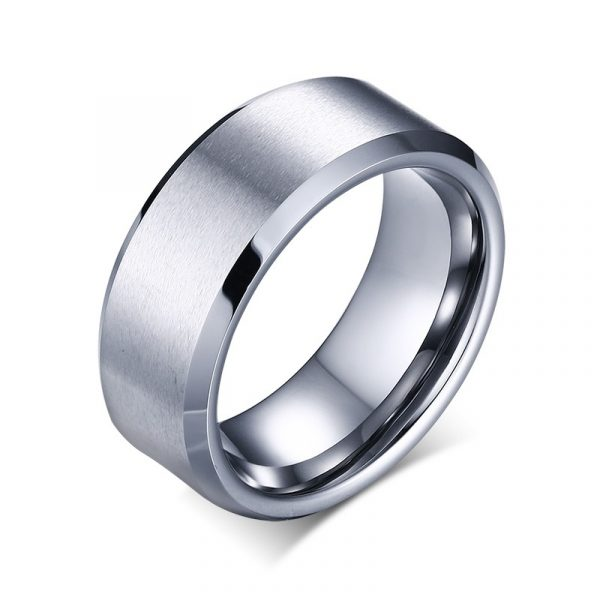 Foster Titanium Silver Colour Ring