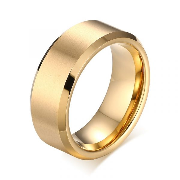 Foster Titanium Yellow Gold Plated Ring