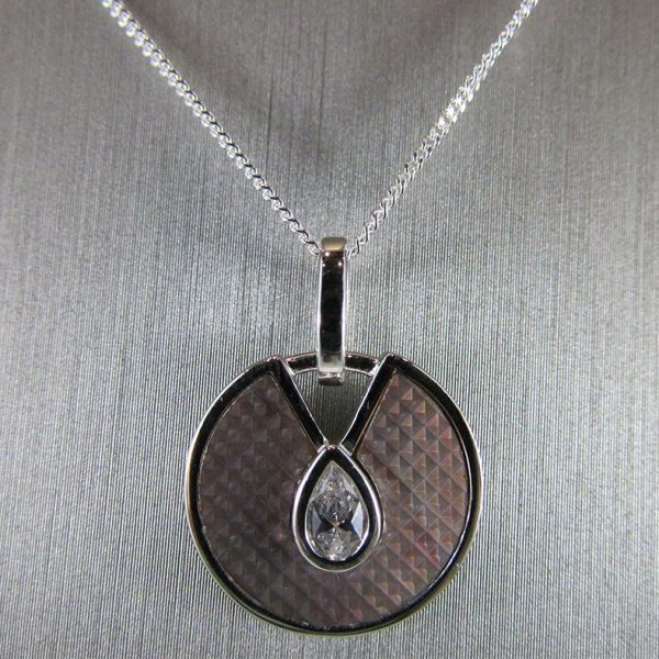Black Mother of Pearl & CZ Pendant