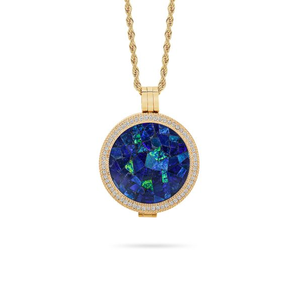Classic • Rose Gold Plated Sky Opal Locket