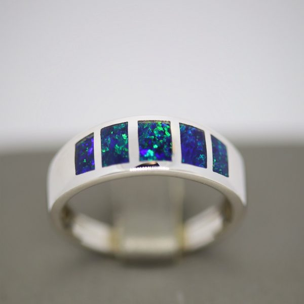 MEN OPAL RING AUSTRALIAN OPAL JEWELLERY
