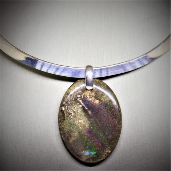 Australian Big Boulder Opal Chocker
