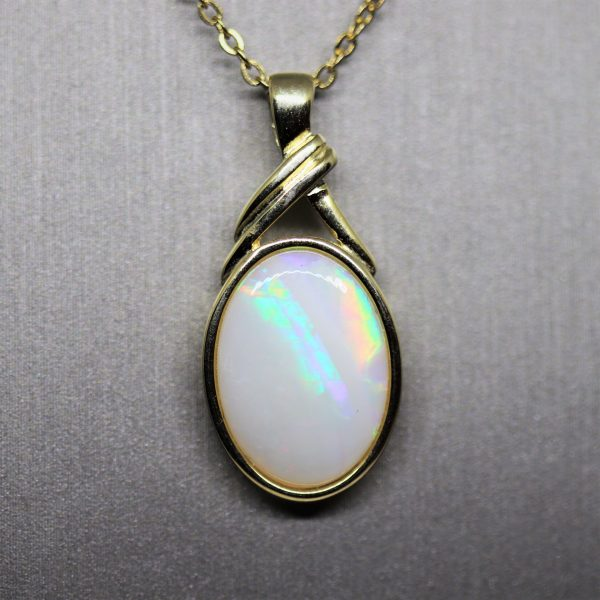 Australian Solid Gold Plated Opal Pendant