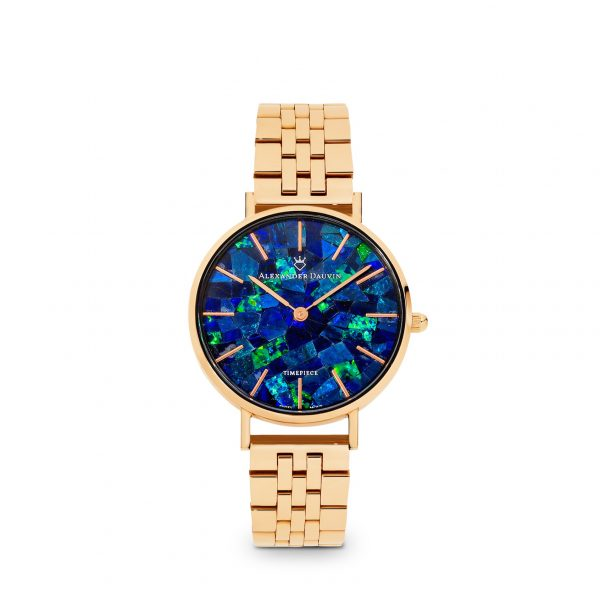 Classic Ridge Blue Opal Watch - Rose Gold 32mm