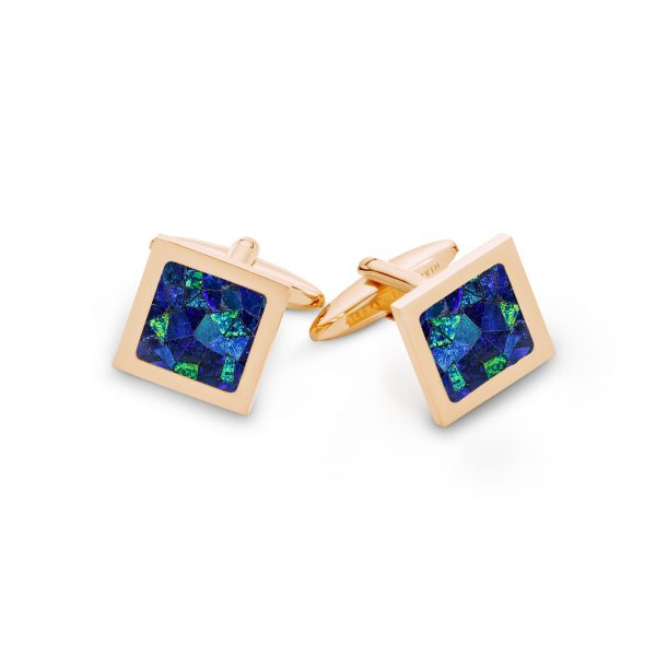 Le Carré • Sky Rose Gold Cufflinks