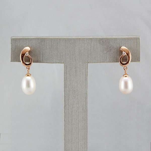 Rose Gold Australian Pearl Earrings