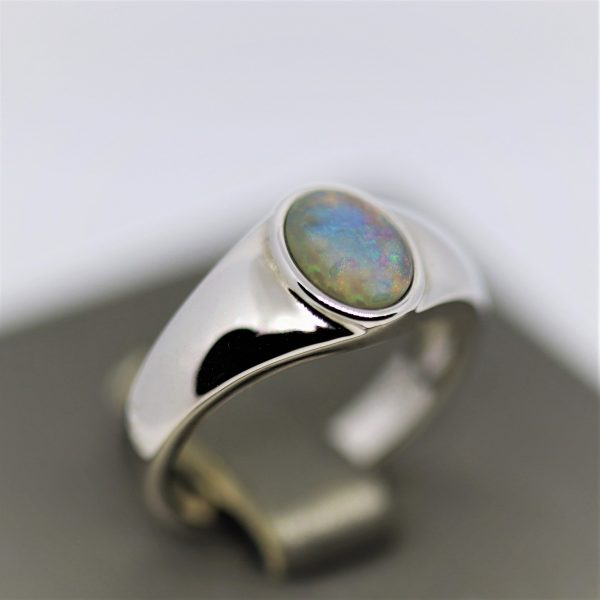 Supreme Solid Opal Men Ring