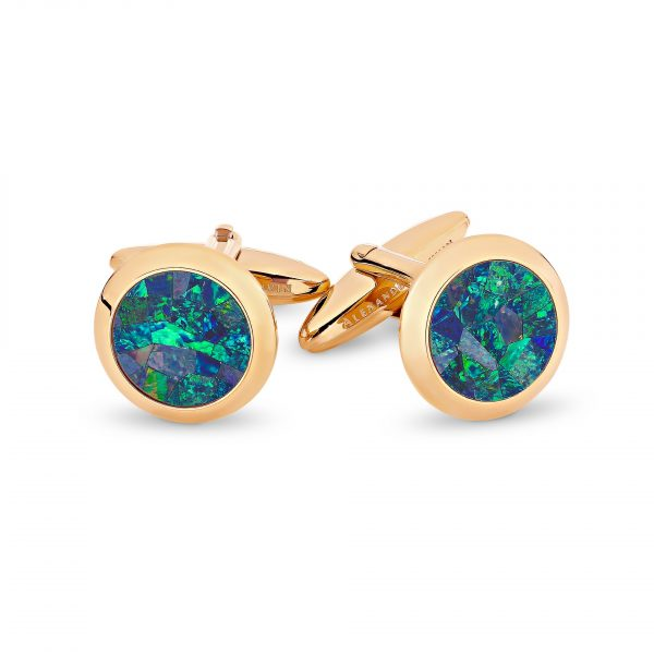 Le Rond • Rose Gold Pl Ocean Cufflinks