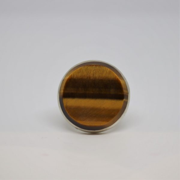 Brown Stone Silver Men Ring