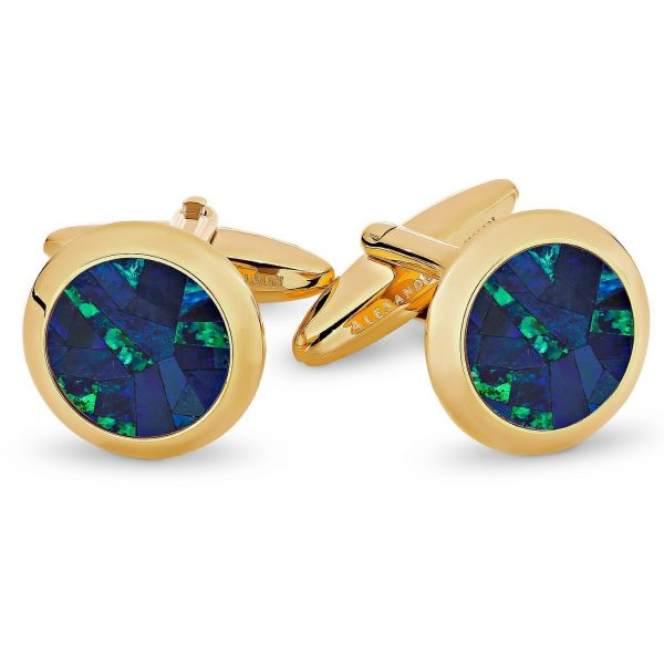 Le Rond • Sky Yellow Gold Opal Cufflinks