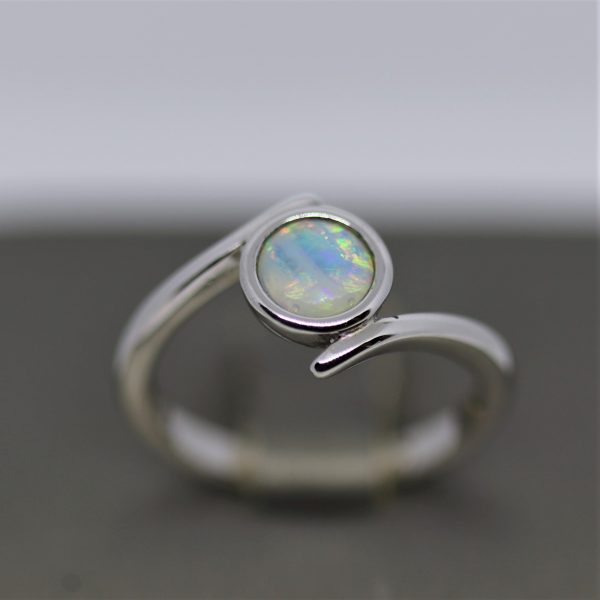 Solid Crystal Opal Silver Ring (7)