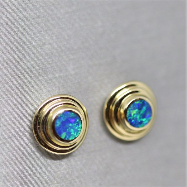 Beautiful 14K Gold Opal Earrings