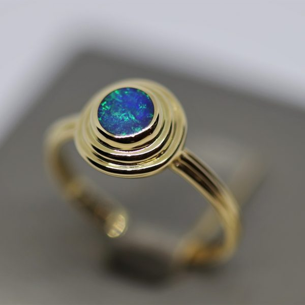 Beautiful 14K Gold Opal Ring