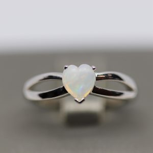 Heart Solid Opal Ring 7