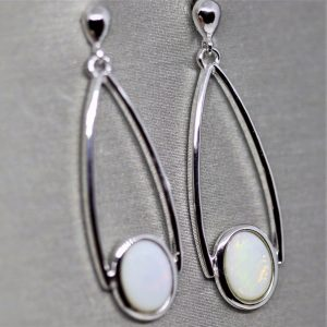 Solid Australian Opal Earrings