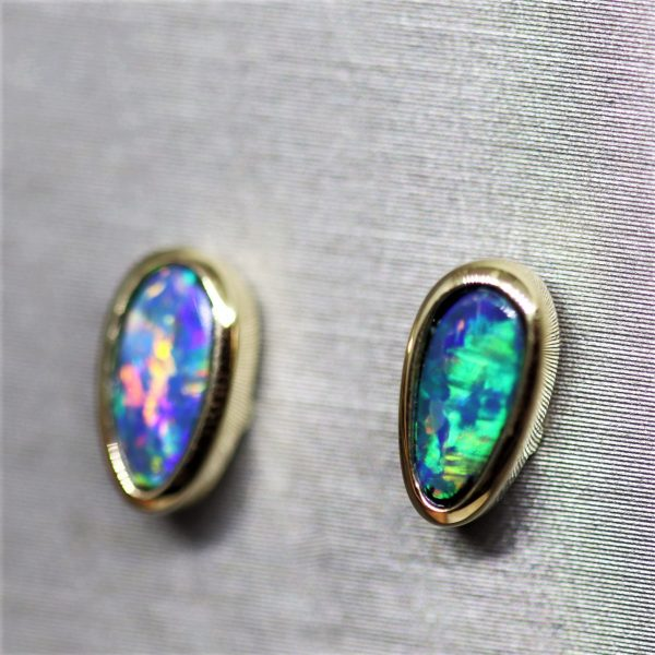Top Quality Opal Earrings 14k Gold