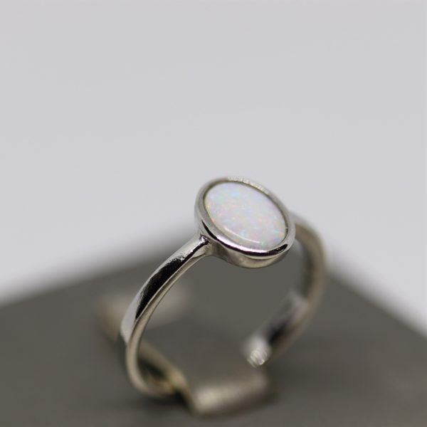 Angelic Solid Opal Silver Ring