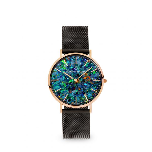 Classic Cliff Green Opal Watch - Yellow Gold 36mm