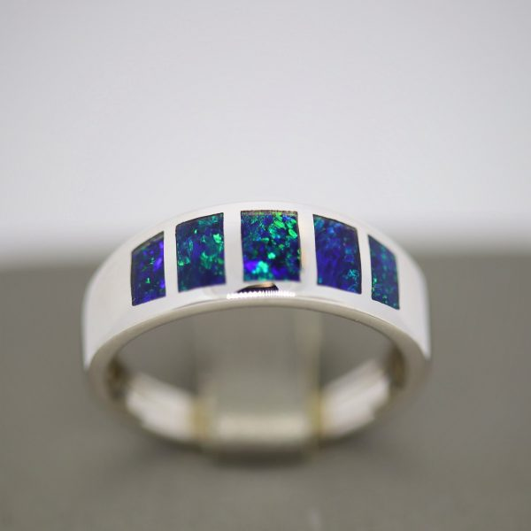 Luxury Opal Men Ring Inlay - S