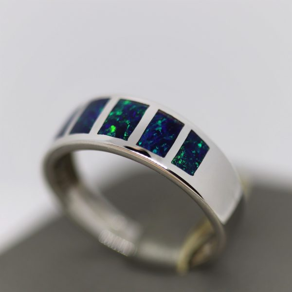 Luxury Opal Men Ring Inlay - V