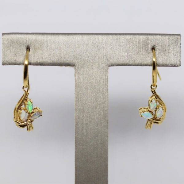 Crystal Opal Gold Plated Earrings