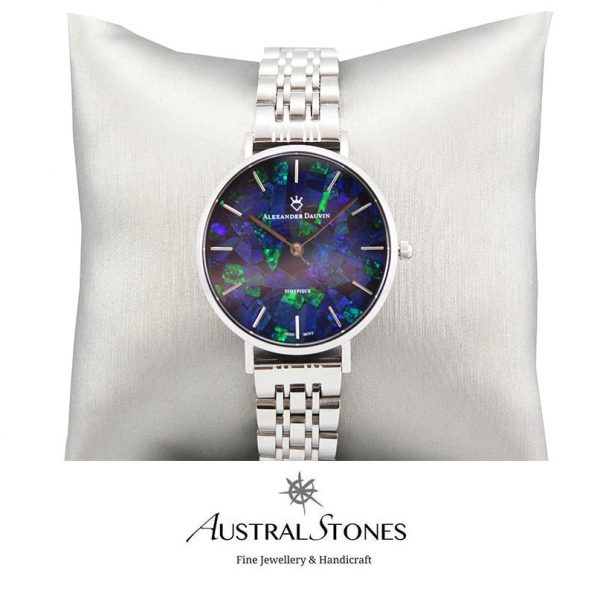 Treasure Solid Blue Opal Watch - 28mm