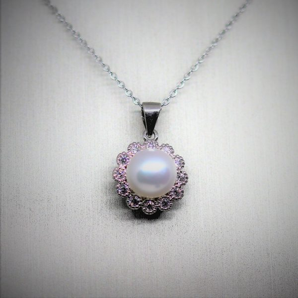 Freshwater Natural Pearl Silver Pendant