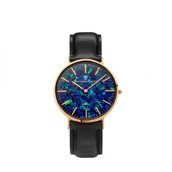 Classic Cliff Blue Opal Watch - Rose Gold 32mm