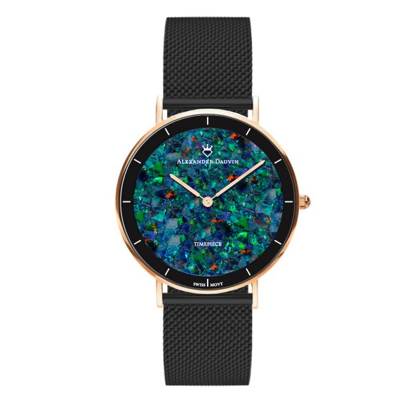 Gatsby Cliff Red Opal Watch - 36mm