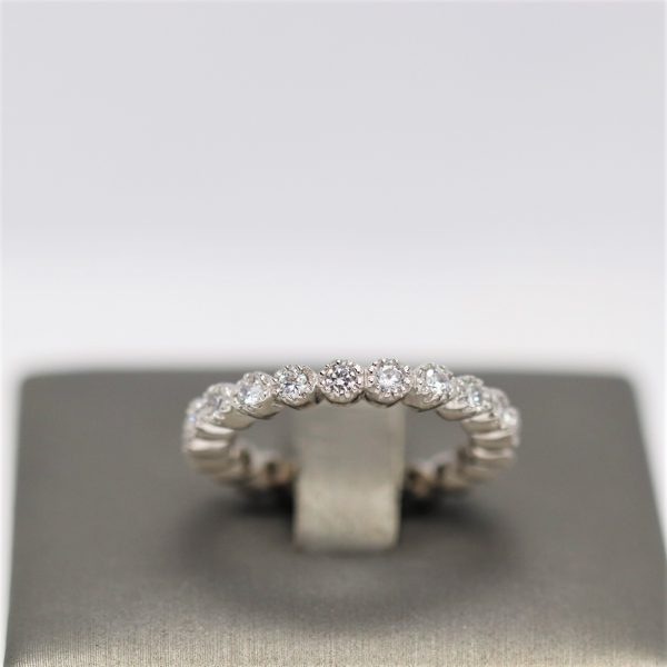 Infinity Cubic Zirconia Diamonds Sterling Silver 925 Band Ring